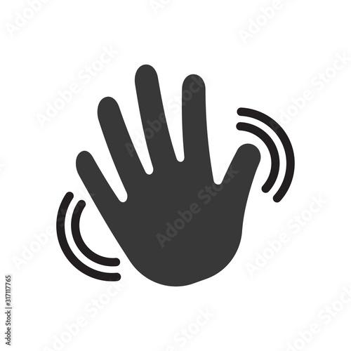Obraz na plátne Greeting sign. Hello symbol.