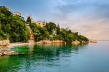 Glavanovo Beach In Rijeka, Cro...