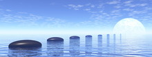 Row Of Stones Upon The Ocean L...