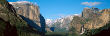 El Capitan And Half Dome Rock Formations, Yosemite National Park, California