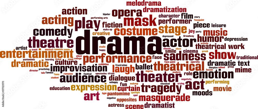 Fototapeta Drama word cloud
