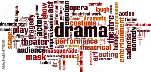 Obraz Drama word cloud - fototapety do salonu