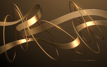 Abstract Gold Ribbons And Rings