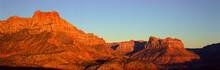 Zion National Park At Sunset, ...