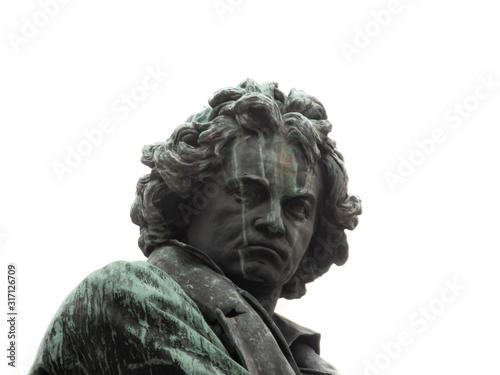Beethoven Denkmal Wien, errichtet 1870 Canvas Print