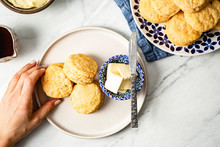 Sweet Potato Biscuits On A Bri...
