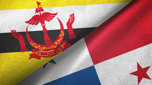 Brunei And Panama Two Flags Te...