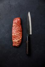 Raw Fresh Marbled Meat Steak W...
