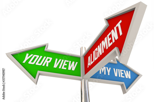Photo Alignment Your My View Opinion Direction Signs 3d Animation
