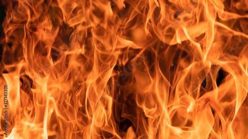 Cuadros en Lienzo background of hot fire flame