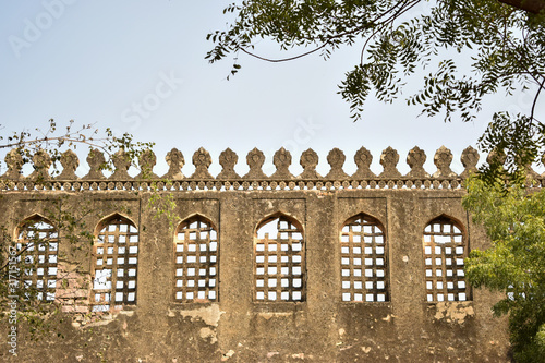 Old Ancient Antique Historical Ruined Architecture of Golconda Fort Walls Wallpaper Mural