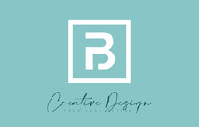 B Letter Icon Design With Creative Modern Look And Teal Background.