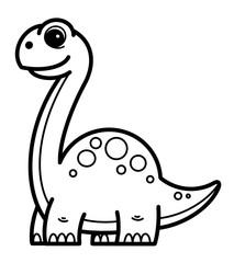Dinosaur cartoon. Coloring book for kids