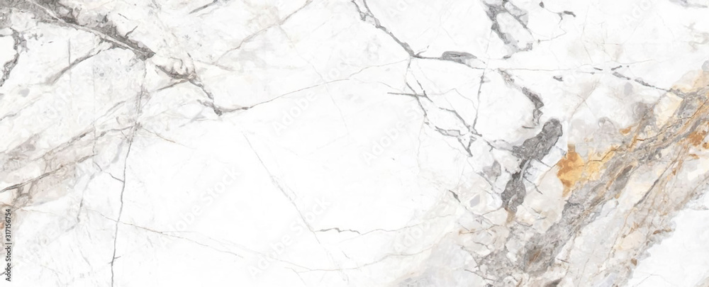 Fototapeta White Cracked Marble rock stone marble texture wallpaper background