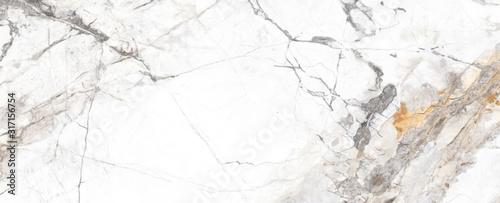 Fototapeta White Cracked Marble rock stone marble texture wallpaper background obraz