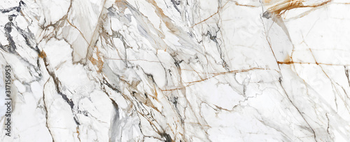 Obraz White Cracked Marble rock stone marble texture wallpaper background - fototapety do salonu
