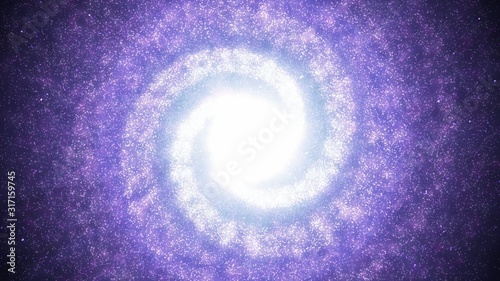Beautiful Purple Spiral Galaxy in Space Swirling with Nebula Stars - Abstract Background Texture