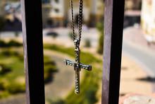 Cross Pendant With Gemstones