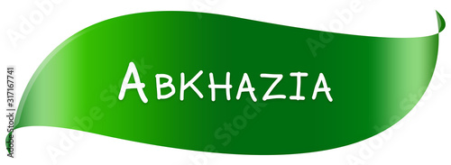 Photo web Label Sticker Abkhazia