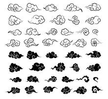 中国 雲 イラスト