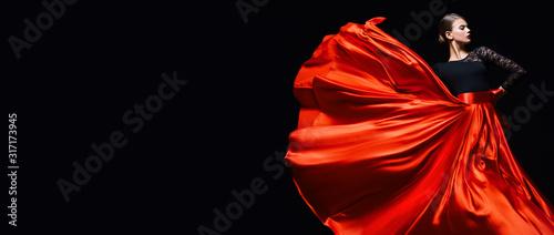 Tablou Canvas scarlet and black