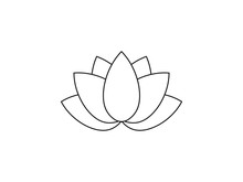 Flower, Lotus Icon. Vector Ill...