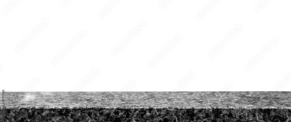 Fototapeta Black granite table
