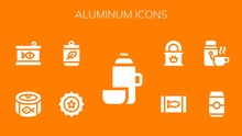 Modern Simple Set Of Aluminum Vector Filled Icons