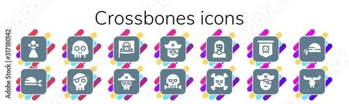 Платно Modern Simple Set of crossbones Vector filled Icons