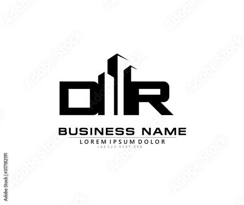 Cuadros en Lienzo D R DR Initial building logo concept