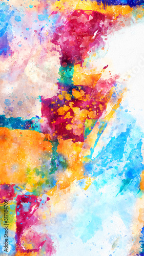 Fototapety, obrazy: Abstract Colorful Painting.