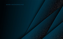 Abstract Blue Light 3D On Dark...