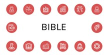 Set Of Bible Icons