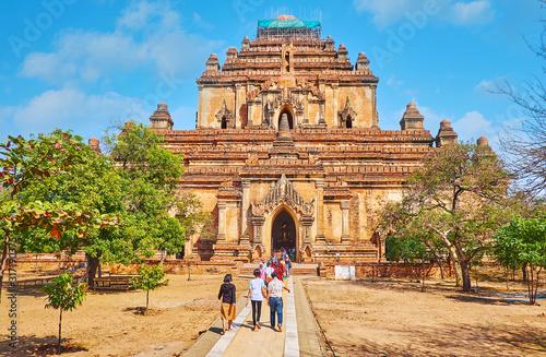 The facade of Dhammayangyi Temple, Bagan, Myanmar Wallpaper Mural