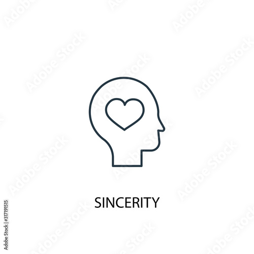 Carta da parati sincerity concept line icon
