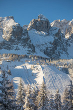 Skiing Slopes At The Monte Cro...