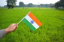 Hand Holding Indian Flag, Repu...