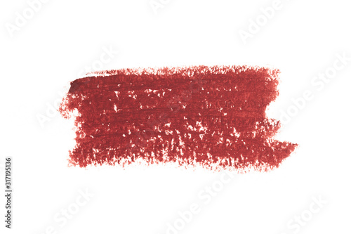 Lipstick Liner Pencil Squiggles isolated on white background  - Image Wallpaper Mural