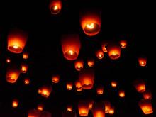 Paper Lanterns At Sky Lantern ...