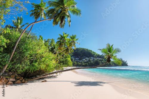 Fototapeta Amazing tropical paradise beach, Anse Takamaka beach on Seychelles
