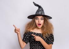Happy Halloween Concept. Surpr...