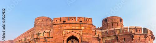 Valokuva Panoramic of Agra fort at Uttar Pradesh, India.