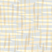 Vector Basket Weave Background In Light Yellow, Pastel Blue And Rusty Brown. Painterly Seamless Pattern. For Wellness, Summer, Yoga, Cosmetic ,organic Packaging, Background Texture Wallpaper