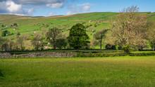 Yorkshire Dales Landscape In The Bishopdale Parish, Near Newbiggin, North Yorkshire, England, UK