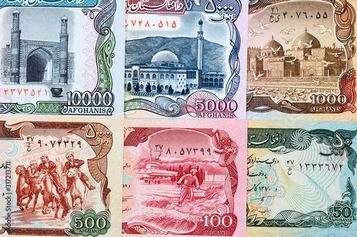 Money from Afghanistan a business background Billede på lærred