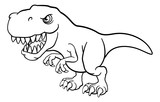 Fototapeta Dino - A T Rex Tyrannosaurus dinosaur cartoon character