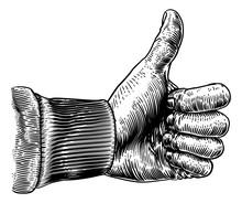A Hand Giving A Thumbs Up Sign...