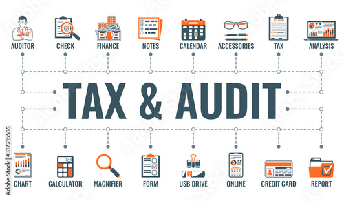 Auditing, Tax, Accounting Banner Wallpaper Mural