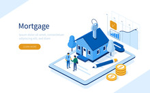 Character Buying Mortgage Hous...