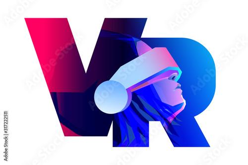 Fotografia VR letter logo design